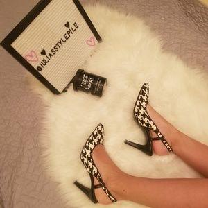 Alfani,hounds tooth check print heels size 7